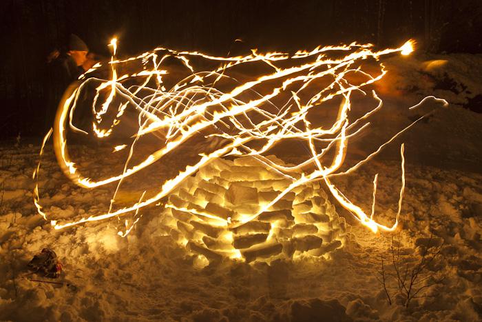 Kerzenchaos über Iglu