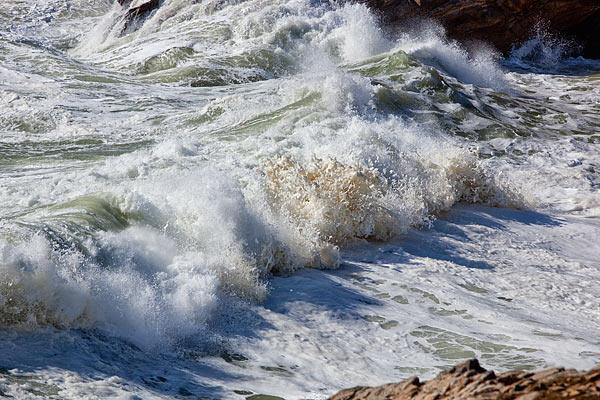 schaumige Wellen