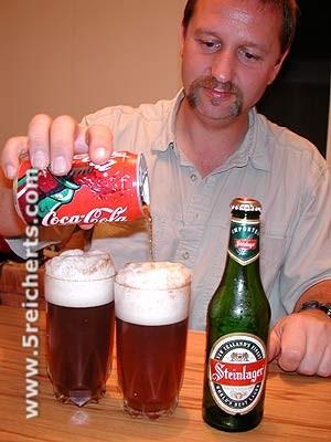 Gunter mit Bier und Kola