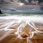 Cote Sauvage, Wellen am Strand