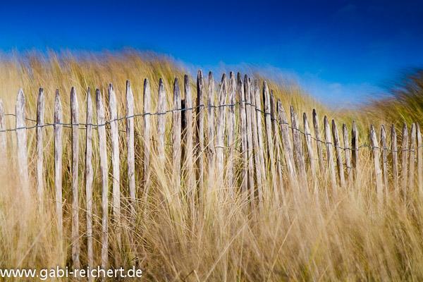 Zaun am Strand, Plage de la Torche, Bretagne