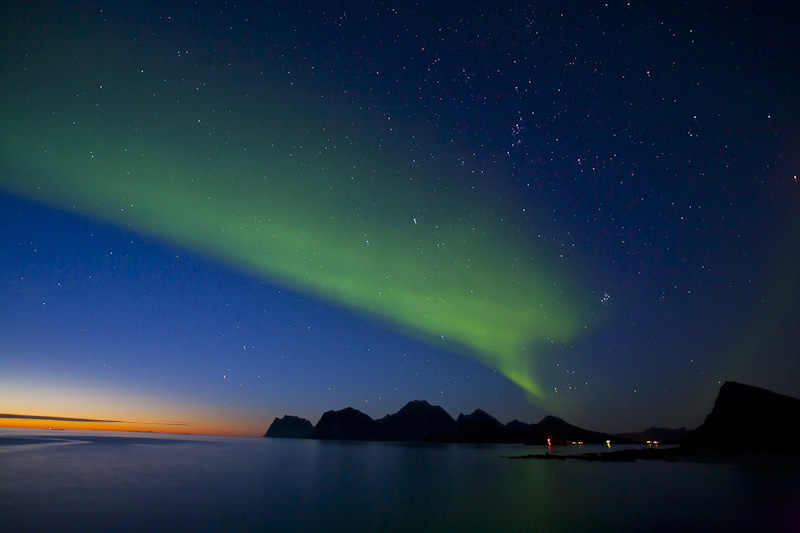 Northern Lights, Lofoten, September 2010