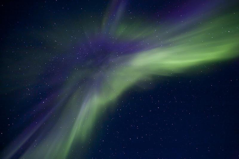Corona, Aurora borealis, Lofoten, September 2010