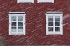 Heute den ganzen Tag Schneefall …
