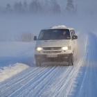 VW im Schnee und Nebel