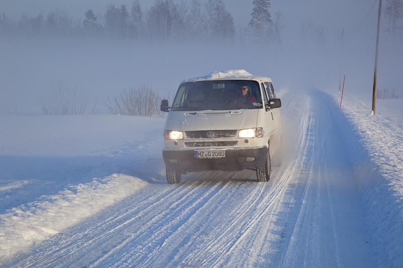 VWT 4 im Schnee und Nebel