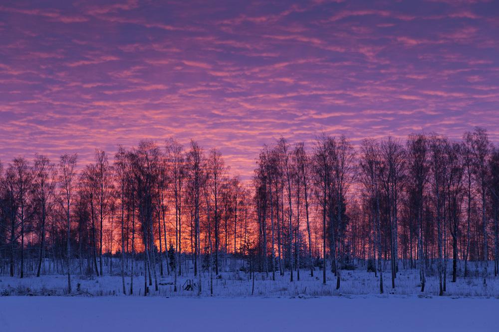 atemberaubender Sonnenuntergang