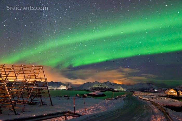 Nordlicht im Winter auf den Lofoten