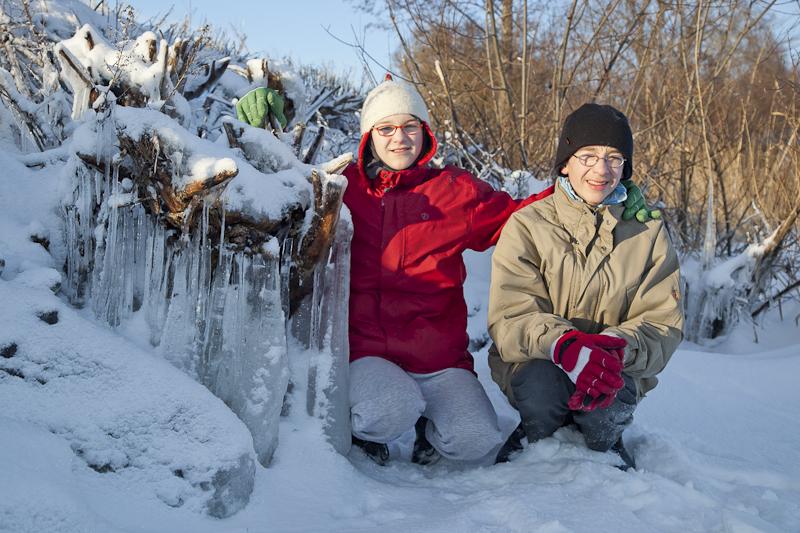 Das Eis, Amy und Noah