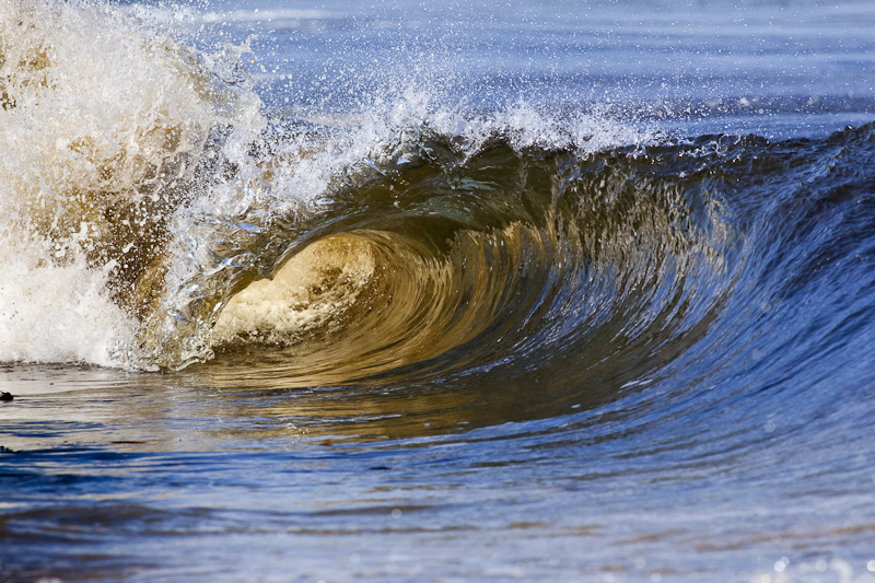 Wellen, die heranrollen, ich kann stundenlang zusehen
