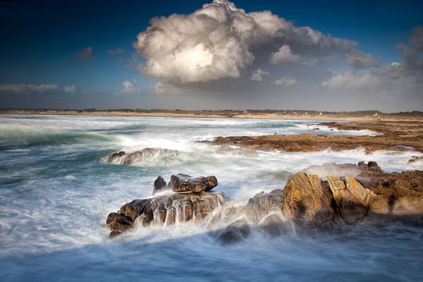 Gewitterstimmung am Pointe de la Torche, Bretagne, Frankreich