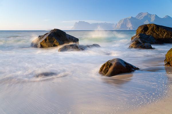 der ideale Fotostrand, Lofoten, Norwegen
