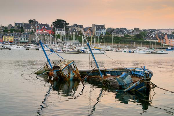 Wracks in Camaret sur Mer, Bretagne, Frankreich