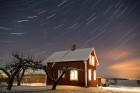 bei 20^C unter Null, unser kleines Haus in Schweden