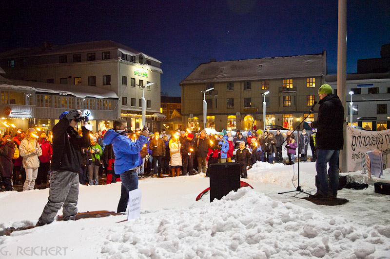 Demo in Svolvaer