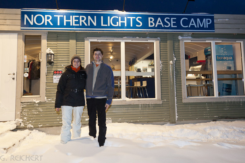 Northern Lights Base Camp - Christina & Rodrigo auf den Lofoten