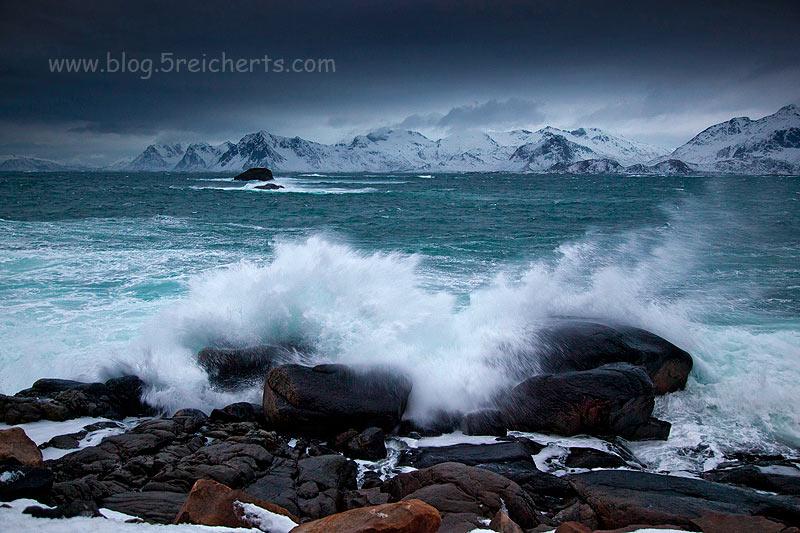 knallende Wellen