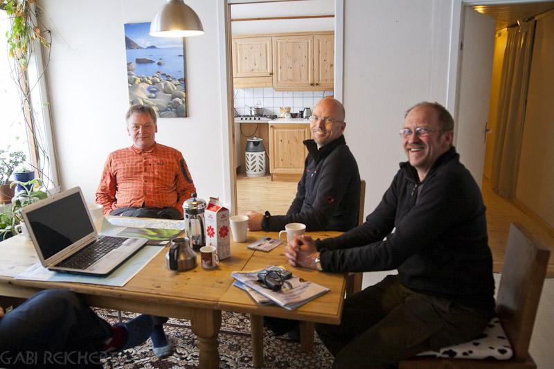 Erfahrungsaustausch mit drei lustigen Fotografen