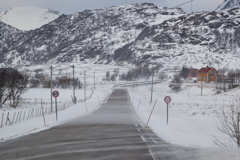 Wind und Schnee - besser auf den Heimweg machen