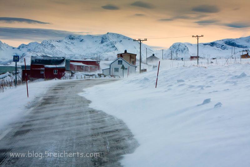 Schnee und Wind