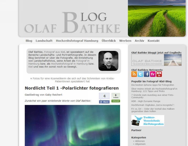 Gastbeitrag bei Olaf Bathke