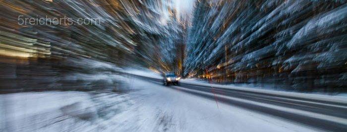 Strasse im Winter