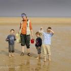 Muscheln sammeln, Normandie