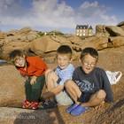 Klettern auf Felsen, Bretagne