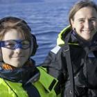 Amy mit Heike Vester auf dem Vetfjord - keine Wale in der Nähe