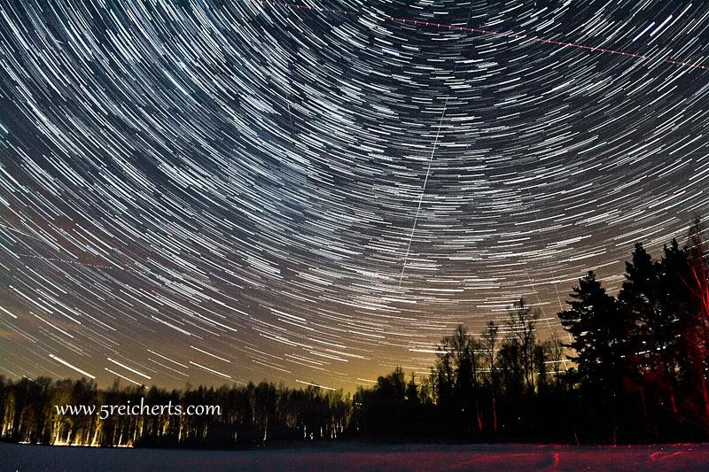 Sternenbahnen - und die Erde dreht sich schnell!!