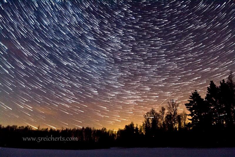 viele Sternschnuppen