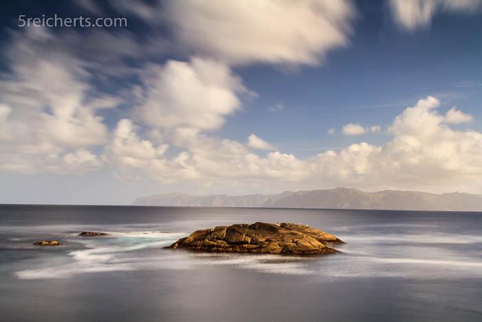 Langzeitfotografie, Felsen beim Krakenes Fyr