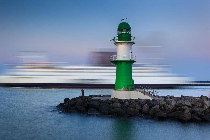 Hafeneinfahrt Warnemünde, Deutschland