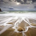 ablaufende Wellen an der Cote sauvage