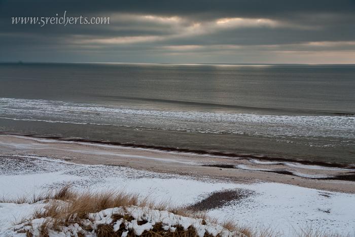 Meer und Strand von der Düne aus