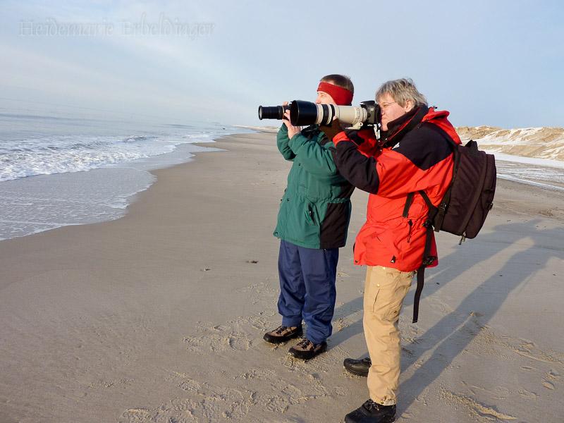Gunter und ich fotografieren Wellen