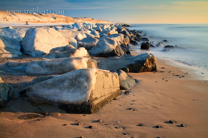 überfrorene Felsen