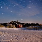 Sterne über dem Ferienhaus