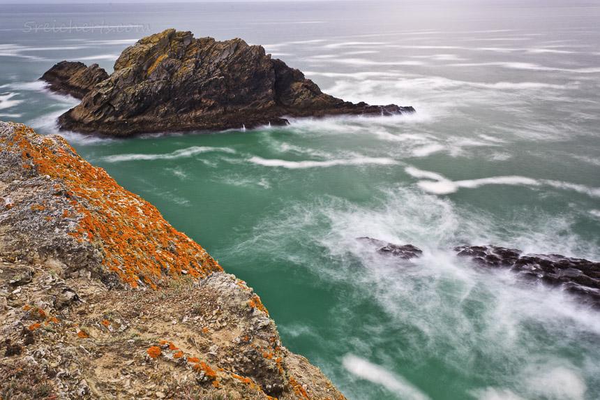 Felsenküste bei Regenwetter, Belle Ile