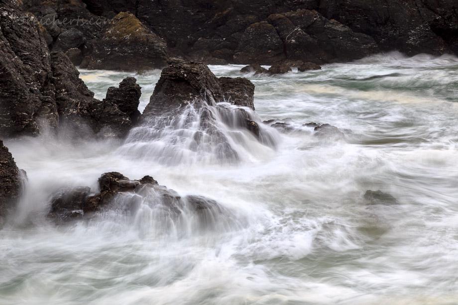 Ablaufende Wellen am Pointe du Poulains, Belle Ile