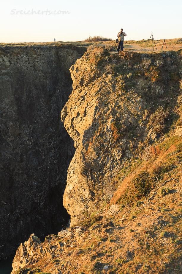 Gunter an der Felsenküste, Belle Ile