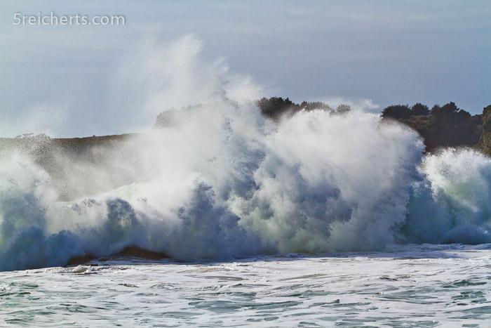 Gischt nach einer großen Welle