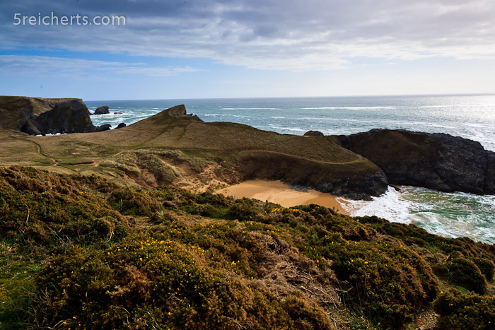 Blick über die Küste bei Plage Baluden