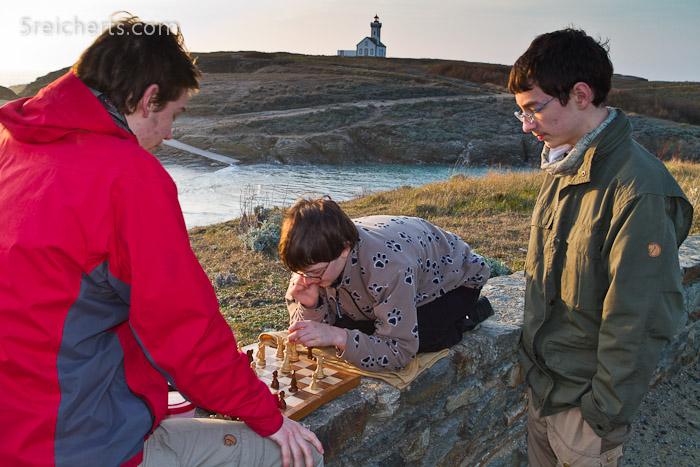 Schachspiel mit Aussicht