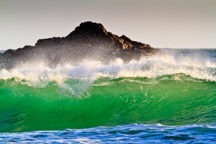 perfekt ausgeleuchtete Wellen