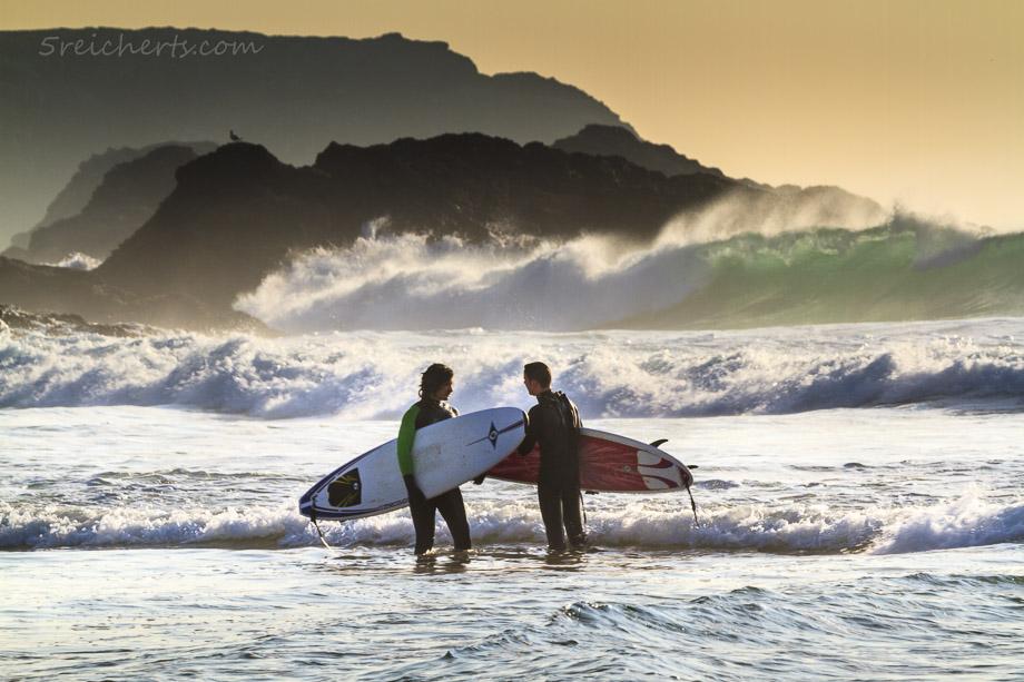 Surfer am Strand von Donnant, Belle Ile