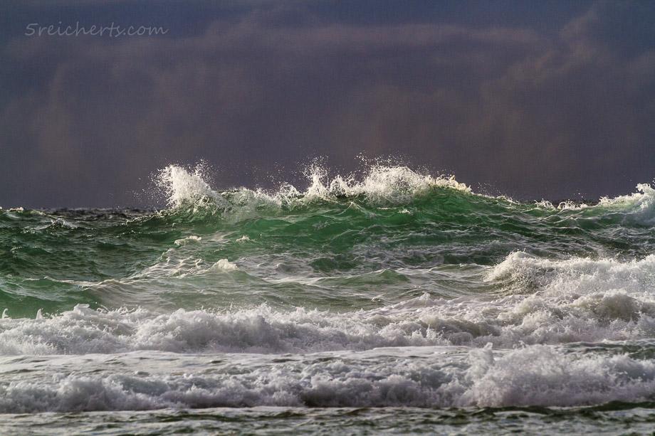 Wellen und dramatische Wolken, Donnant, Belle Ile