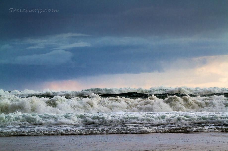 Meer und Regenwetter, Donnant
