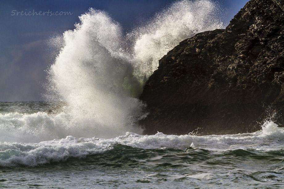Dynamik im Meer und dramatische Wolken, Belle Ile
