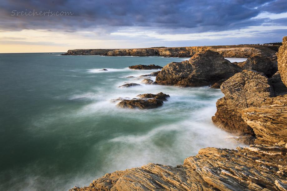 Langzeitbelichtung am Strand von Donnant, Belle Ile
